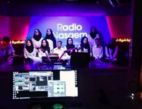 Gesang unseres Chores bei Radio Nasaem
