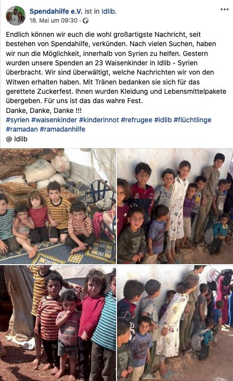 2020 Spendahilfe in Idlib